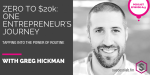SuccessLab Podcast with Greg Hickman Enetrepreneurship